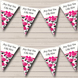 Shabby Chic Vintage White Pink Retirement Party Bunting