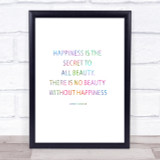 Christian Dior Secret To Beauty Rainbow Quote Print