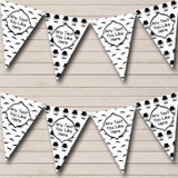 Funny Retro Vintage Moustache Retirement Party Bunting