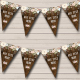 Rustic Wood Floral Retirement Party Bunting