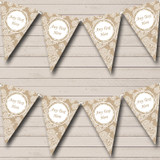 Lace & Burlap Retirement Party Bunting