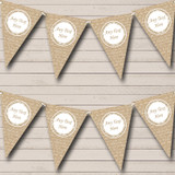 Burlap Love Script Retirement Party Bunting
