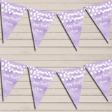 Lilac Purple Watercolour Lights Retirement Bunting Garland Party Banner