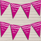 Hot Pink Watercolour Lights Retirement Bunting Garland Party Banner