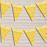 Pretty Lace Golden Yellow Retirement Bunting Garland Party Banner