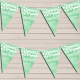 Green Watercolour Lights Retirement Bunting Garland Party Banner