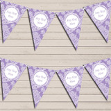 Lace Pattern Purple Retirement Bunting Garland Party Banner