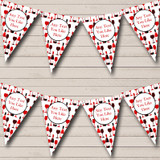Red Wine Bottles Christmas Decoration Bunting