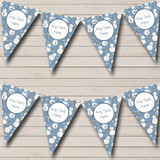 Blue Snowmen In Scarves Christmas Decoration Bunting