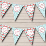 Blue Green & Pink Snowflakes Christmas Decoration Bunting