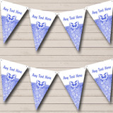 Blue And White Bow Christmas Bunting