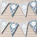Blue & White Snowmen In Scarves Christmas Decoration Bunting