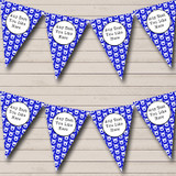 Blue & White Reindeer Faces Christmas Decoration Bunting