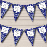Blue & Silver Christmas Bunting