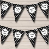 Black With Silver Stars Christmas Bunting