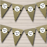 Black Gold Christmas Party Bunting