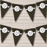 Black And Gold Wave Pattern Christmas Party Bunting