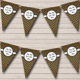 Black And Gold Christmas Party Bunting