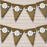 Black And Gold Pattern Christmas Party Bunting