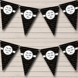 Black And Gold Latin Script Christmas Party Bunting