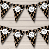 Black And Glitter Gold Spots Christmas Party Bunting