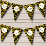 Black And Elegant Dark Gold Christmas Party Bunting