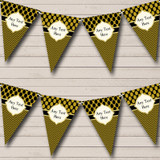 Black And Dark Gold Spots Elegant Christmas Party Bunting