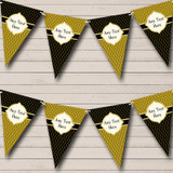 Black And Dark Gold Elegant Christmas Party Bunting