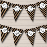 Black And Copper Gold Stripes Christmas Party Bunting