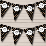Black And Copper Gold Crosshatch Christmas Party Bunting