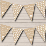 Beige & White Presents Christmas Decoration Bunting
