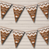 Rustic Wood & Lace Christmas Bunting