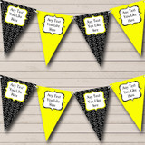 Yellow And Black Hearts Valentine's Party Bunting