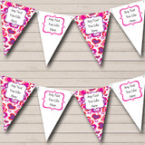 White Pink Love Hearts Valentine's Party Bunting