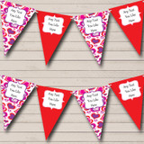 Red Pink Love Hearts Valentine's Party Bunting