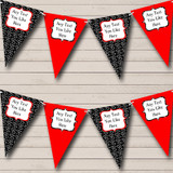 Red And Black Hearts Valentine's Party Bunting
