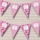 Pink Love Hearts Valentine's Party Bunting