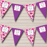 Pink And Purple Love Hearts Valentine's Party Bunting