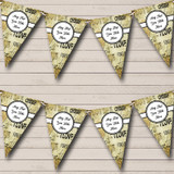 Love Script Gold And Black Valentine's Party Bunting