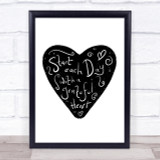 Start Each Day Grateful Quote Print Poster Typography Word Art Picture