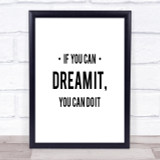 You Can Do It Quote Print Poster Typography Word Art Picture