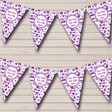 Beautiful Purple Butterfly Shabby Chic Garden Tea Party Bunting