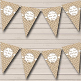 Patterned Burlap Tea Party Bunting