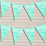 Mint Green Watercolour Lights Tea Party Bunting Garland Party Banner