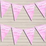 Baby Pink Watercolour Lights Tea Party Bunting Garland Party Banner