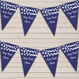 Navy Blue Watercolour Lights Tea Party Bunting Garland Party Banner