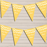 Yellow Watercolour Lights Tea Party Bunting Garland Party Banner
