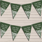 Deep Green Burlap & Lace Tea Party Bunting Garland Party Banner