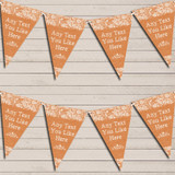 Pretty Lace Burnt Orange Tea Party Bunting Garland Party Banner