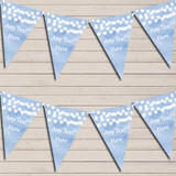 Blue Watercolour Lights Tea Party Bunting Garland Party Banner